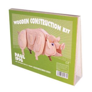 Professor Puzzle Ξύλινη κατασκευή Paul the Pig Construction Kit, 3d puzzle, 3d παζλ, παζλ, Μαθηματική Βιβλιοθήκη, mathimatiki vivliothiki, κατασκευές, παιδικές κατασκευές, παιδικες κατασκευες, κατασκευες για παιδια, χειροτεχνιες, παιχνιδια για αγορια, παιχνιδια για παιδια, παιδικα παιχνιδια, ξύλινα παιχνίδια, παιχνίδια, παιχνιδια, παιχνιδια για κοριτσια, σπαζοκεφαλιές, δωρα, δώρα, δώρο, δωρο, επιτραπεζια, εποχιακα, A-3