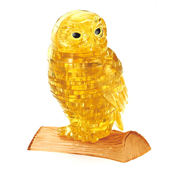 Crystal Puzzle Owl Golden 3D