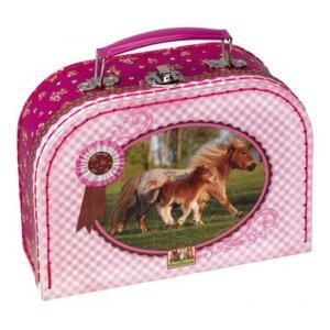 """Βαλιτσάκι """"Horse Friends"""", διακόσμηση, κουτιά, κουτια, κουτί, κοσμηματοθήκη, μπιζουτιερα, mpizoutiera, mpizoutieres, δωρα για την μαμα, οργανωση κοσμηματων, spiegelburg, spiegelburg 30523"""
