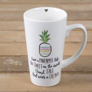 """Κεραμική Κούπα Latte """"A Pineapple Life"""" Natural Life, γυναικεια, koypes, γυναικειο, φλυτζανι καφε συμβολα, κεικ σε κουπα, καφε για διαβασμα, flitzani, σετ τσαγιου, φλυτζανι τσαγιου, κουπα καφε, φλυτζανια, φλυτζανι καφε, φλιτζάνι, κουπεσ, κουπεσ καφε, φλυτζανι, φλυτζανια τσαγιου, φλυτζανια καφε, koupes, φλιτζανια, δωρα, δωρο πασχα, πρωτοτυπο, δωρο χριστουγεννων, δωρα χριστουγεννων, δωρα γενεθλιων, χριστουγεννιατικα δωρα, πρωτοτυπα δωρα, δωρα για το σπιτι, τι δωρο να παρω στην κολλητη μου, χειροποιητα χριστουγεννιατικα δωρα, δωρα γενεθλιων για φιλη, το καλυτερο δωρο, ιδέεσ για δώρα γενεθλίων, natural life, natural life greece, MUG277, graffiti, graffiti 50672"""