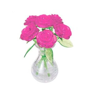 Crystal Puzzle Six Rose Pink 3D, 3D παζλ, 3D puzzle, 3D pazl, παζλ, pazl, puzzle, 3D puzzle, 3D παζλ, παζλ, puzzles, τανκ 3D, Mathimatiki Vivliothiki, παιδικά παιχνίδια, παιχνίδια, παιχνιδια, παιχνίδια για κορίτσια, παιχνίδια για αγόρια, επιτραπέζια, παιχνίδια με παζλ, δώρα, δώρο, crystal puzzle 90252