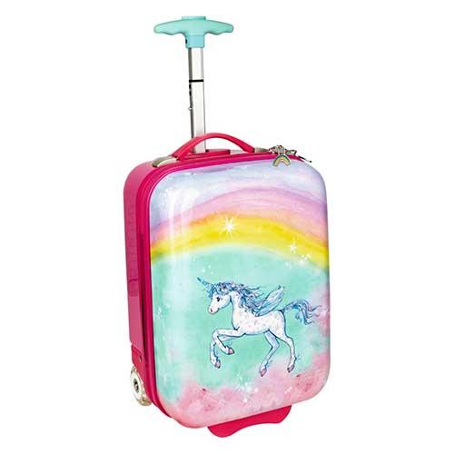Βαλίτσα Trolley με φωτάκια LED «Unicorn Paradise»