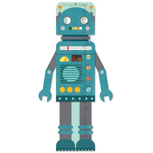 Petit Collage Αναστημόμετρο «Blue Robot»