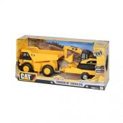 """CAT Dump Pulling Truck n"""" Trailer με Φώτα και Ήχους"""