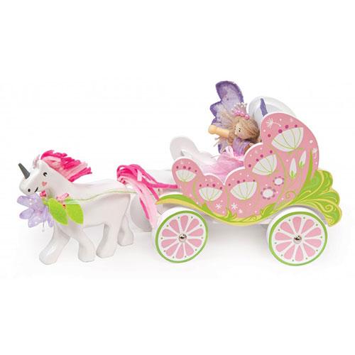 Le Toy Van Ξύλινη άμαξα με νεράιδα και μονόκερο