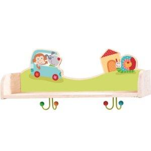 Haba Ραφιέρα - Κρεμάστρα 'Χαρούμενα ζωάκια', haba, haba 301646, haba παιχνιδια, haba παιδικα επιπλα, haba φωτιστικα, haba σχολικες τσαντες, haba φωτακι νυκτος, haba furniture online shop, haba toys, επιπλα, διακοσμηση υπνοδωματιου, επιπλα σπιτιου, διακοσμηση εσωτερικου χωρου, σπιτι, αξεσουαρ, διακοσμηση παιδικου δωματιου, κρεμαστρεσ τοιχου, διακοσμηση δωματιου, ειδη σπιτιου, διακοσμητικα, διακοσμητικα σπιτιου, διακοσμηση τοιχου, διακοσμητικα τοιχου, διακοσμηση σπιτιου παιχνιδια, δώρα, καδρακια παιδικα, καδρα για παιδικο δωματιο, κρεμαστρεσ τοιχου, κρεμαστρούλες, κρεμαστρουλες, παιδικα, παιδικα δωματια για αγορια , παιδικα δωματια, δωματια, δωματιο, βρεφικα ειδη, βρεφικα δωματια, παιδικα επιπλα, παιδικα δωματια για κοριτσια, βρεφικα επιπλα, paidika domatia