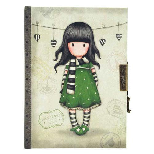 Santoro Gorjuss Σημειωματάριο ημερολόγιο με κλειδί «The scarf» 577GJ08