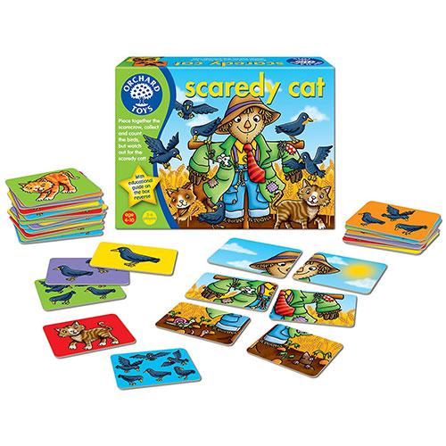 Orchard Toys Προσχολικό Επιτραπέζιο παιχνίδι 'Μια φοβητσιάρα Γάτα'
