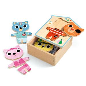 Djeco Ξύλινο Παζλ Συνδυασμών 'Ντύνω τα ζωάκια', pazl djeco, παζλ djeco, παιδικά παζλ, παζλ για παιδιά, pazl, puzzle, puzzles, παιχνίδια με παζλ, παζλ games, παζλ για κορίτσια, παζλ για παιδιά, παιδικά παιχνίδια, δώρα, δώρο, επιτραπέζια, παιχνίδια για κορίτσια, παιχνίδια για αγόρια, djeco, djeco παιχνίδια, djeco παζλ, djeco online shop, παιχνίδια djeco αθήνα, djeco θεσσαλονικη, djeco 01678