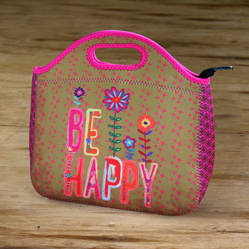 "7bb2f2d5da Natural Life Ισοθερμικό Τσαντάκι φαγητού ""Be Happy"""