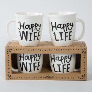 "Natural Life Σετ 2 κούπες ""Happy Wife Happy Life"", happy life happy wife, γυναικεια, koypes, γυναικειο, φλυτζανι καφε συμβολα, κεικ σε κουπα, καφε για διαβασμα, flitzani, σετ τσαγιου, φλυτζανι τσαγιου, κουπα καφε, φλυτζανια, φλυτζανι καφε, φλιτζάνι, κουπεσ, κουπεσ καφε, φλυτζανι, φλυτζανια τσαγιου, φλυτζανια καφε, koupes, φλιτζανια, δωρα, δωρο πασχα, πρωτοτυπο, δωρο χριστουγεννων, δωρα χριστουγεννων, δωρα γενεθλιων, χριστουγεννιατικα δωρα, πρωτοτυπα δωρα, δωρα για το σπιτι, τι δωρο να παρω στην κολλητη μου, χειροποιητα χριστουγεννιατικα δωρα, δωρα γενεθλιων για φιλη, το καλυτερο δωρο, ιδέεσ για δώρα γενεθλίων, natural life, natural life greece, graffiti, graffiti 50958"