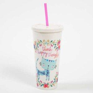 Natural Life Ποτήρι πλαστικό με καλαμάκι Happy Thoughts, γυναικεια, koypes, γυναικειο, φλυτζανι καφε συμβολα, φλυτζανι συμβολα, πορσελανη, flitzani, σετ τσαγιου, θερμοσ, φλυτζανι τσαγιου, κουπα καφε, φλυτζανια, φλυτζανι καφε, φλιτζάνι, κουπεσ, κουπεσ καφε, φλυτζανι, φλυτζανια τσαγιου, φλυτζανια καφε, koupes, φλυτζανι καφε διαβασμα, φλιτζανια, ποτηρια, δωρα γενεθλιων, ειδη τσαγιου, ειδη καφε, σετ ποτηρια, ειδη κουζινασ, καταστηματα e shop, κουτια για δωρα, ειδη για το σπιτι, πλαστικα ποτηρια καφε, ποτηρια πλαστικα, κουτια δωρων, κεραμικα, κουπα, Ποτήρι πλαστικό με καλαμάκι Natural Life, natural life, graffiti, graffiti 50962