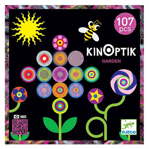 Djeco Kinoptik παζλ με μαγνήτες και εφέ κίνησης εικόνας 'Κήπος' (107 τμχ)