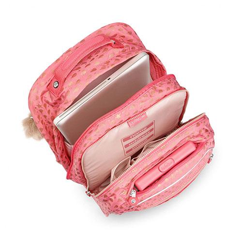 181c9c8db2 ... Kipling Τροχήλατο σακίδιο πλάτης με θήκη για Laptop Clas Soobin L (Pink  Gold Drop)