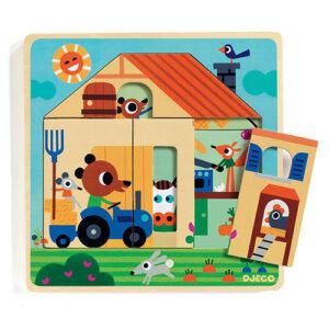 Djeco Ξύλινο Παζλ ανακάλυψης 3 επίπεδα 'Αγρόκτημα', pazl djeco, παζλ djeco, παιδικά παζλ, παζλ για παιδιά, pazl, puzzle, puzzles, παιχνίδια με παζλ, παζλ games, παζλ για κορίτσια, παζλ για παιδιά, παιδικά παιχνίδια, δώρα, δώρο, επιτραπέζια, παιχνίδια για κορίτσια, παιχνίδια για αγόρια, djeco, djeco παιχνίδια, djeco παζλ, djeco online shop, παιχνίδια djeco αθήνα, djeco θεσσαλονικη, djeco 01486
