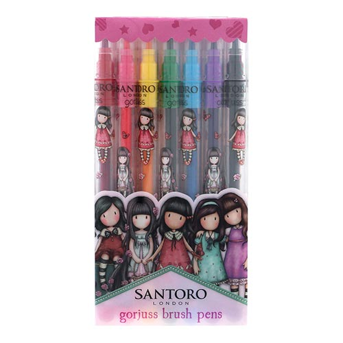 Gorjuss Cityscape Set of 7 Brush Marker Pens