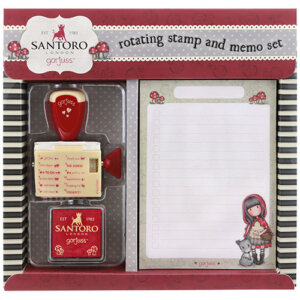Santoro Gorjuss Σημειωματάριο με Σφραγίδα Stamp and Memo Pad Set 865GJ01