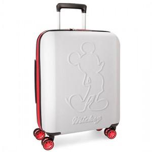 Disney Mickey Βαλίτσα Καμπίνας Trolley 55cm Λευκό 38Lt 3428662
