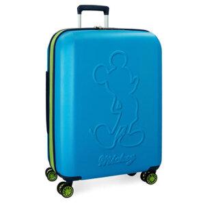 Disney Mickey Βαλίτσα Καμπίνας Trolley 68cm Μπλε 77Lt 3428862