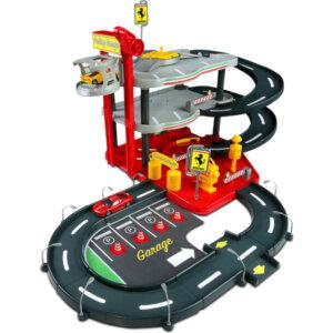 Bburago Σταθμός Αυτοκινήτων με 4 αυτοκίνητα 1/43 Ferrari Race & Play Parking Garage 18/31218