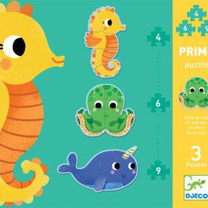 Djeco puzzle θαλασσια ζωακια