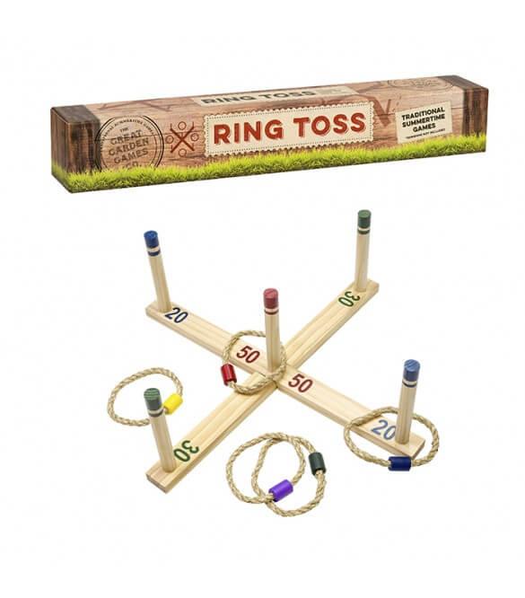ξυλινο παιχνιδι εξωτερικου χωρου ring toss της εταιρειας professor puzzle