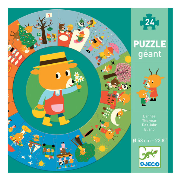 07016 1 Puzzle giant απο την εταιρεια Djeco με θεμα τις εποχες