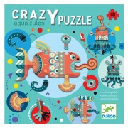07125 1 Djeco crazy puzzle 'Aqua'zules'  18 τμχ.