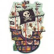 07129 1 Djeco παζλ γίγας  Πειρατικό καράβι