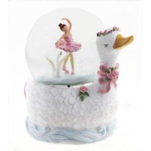 Μουσικη χιονομπαλα Μπαλαρινα με κυκνο