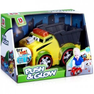 Bburago Junior - Push & Glow- Dump Truck