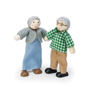 Le toy van -grandparents set- παππους και Γιαγια ξυλινο σετ