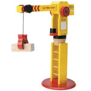 Le toy van the big wooden crane