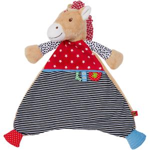Πανάκι αγκαλίτσας με θέμα το αλογάκι  από την εταιρεία Spiegelburg της σειράς Baby Glueck.  Κατασκευασμένο από βελούδο και βαμβάκι, 100% πλήρωση από πολυεστέρα! Πλένεται στο χέρι στους 30 βαθμούς!  Διαστάσεις: 30 x 28 εκ.