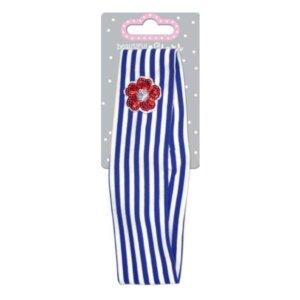 Hair Band Jersey - Κορδέλα Μαλλιών -( μπλε-ριγέ) Spiegelburg 14802