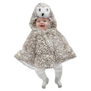 Αποκριάτικη βρεφική στολή-κάπα 'Κουκουβάγια' από την νέα σειρά της εταιρείας Great Pretenders. Υλικό: συνθετικό γουνάκι Ηλικία: + 1 ετών