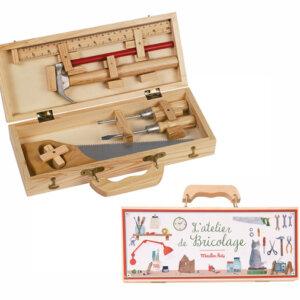 Ξύλινο Σετ Εργαλειών (μικρό) 'L'atelier de Bricolage' Moulin Roty 710408