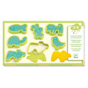 Djeco 6 Φόρμες με στάμπες για πλαστοζυμαράκι 'Κατοικίδια Ζωάκια' Κωδικός: 09023