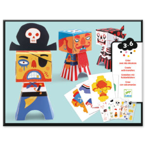 Djeco Κατασκευή χάρτινη με χαλκομανίες 'Πειρατές' Κωδικός: 09042