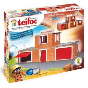 Teifoc Χτίζοντας Πυροσβεστική με 220 αληθινά τουβλάκια Κωδικός: 4800