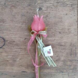Πασχαλινή Λαμπάδα Τουλίπα ροζ Κωδ. 1781-01
