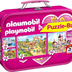 Παζλ - Playmobil -Μεταλλικό Βαλιτσάκι- 2 x 60 / 2 x 100 Κωδ. 5649