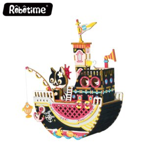 Robotime DIY Music Box Fishing Kitty Κωδ. AMD42