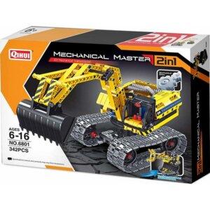 Mechanical Masters - Συναρμολογούμενο 2 in 1 Construction Excavator + Robo