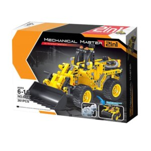 Mechanical Masters – Συναρμολογούμενο 2 in 1 Construction Bulldozer & Tank