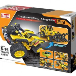 Mechanical Masters – Συναρμολογούμενο 2 in 1 Construction Timber Grab & Dune Buggy
