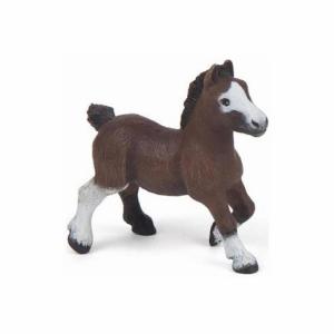 Papo Φιγούρα Άλογο -Shetland Bay Foal - Καφέ σκούρο 51520 (συλλεκτικό)