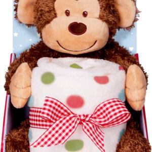 Σετ δώρου Βελούδινο μαϊμουδάκι και κουβέρτα BabyGlück Cop-16396