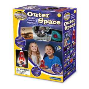 Brainstorm- Προτζέκτορας Πύραυλος με Φωτάκι Νυχτός- 'Outer Space' E2063