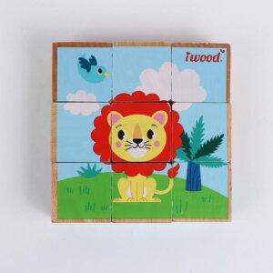 iwood Ξύλινοι Κύβοι Forest Animal 9 τμχ. Κωδ. W11012